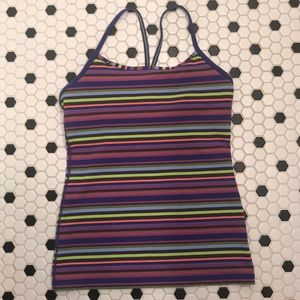 Lululemon multicolored athletic top.  Size small.